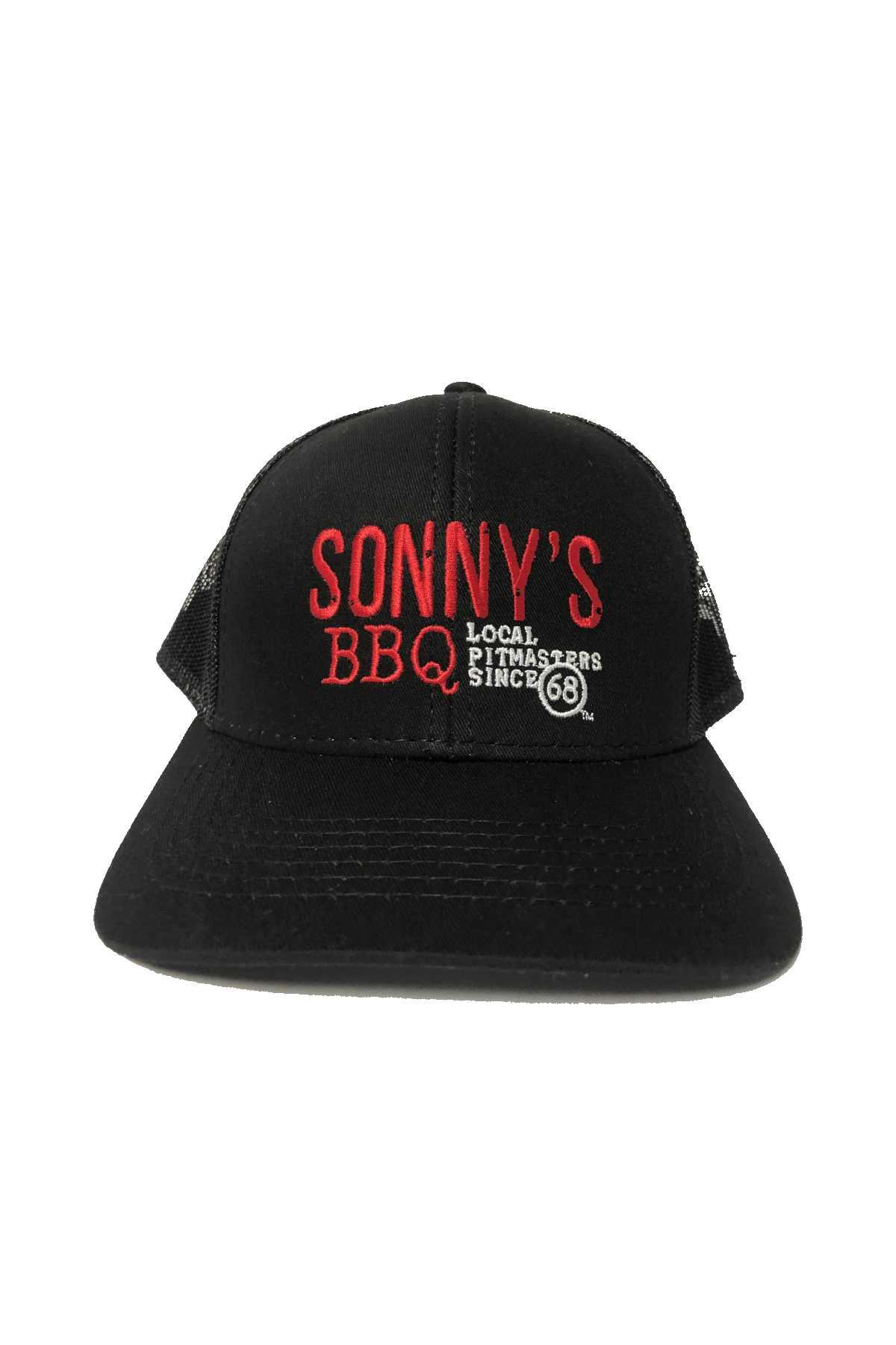 Sonny's BBQ – BOH / Cook Hat: Twill / Mesh Trucker Hat.  MBW-800C – Black – OSFM