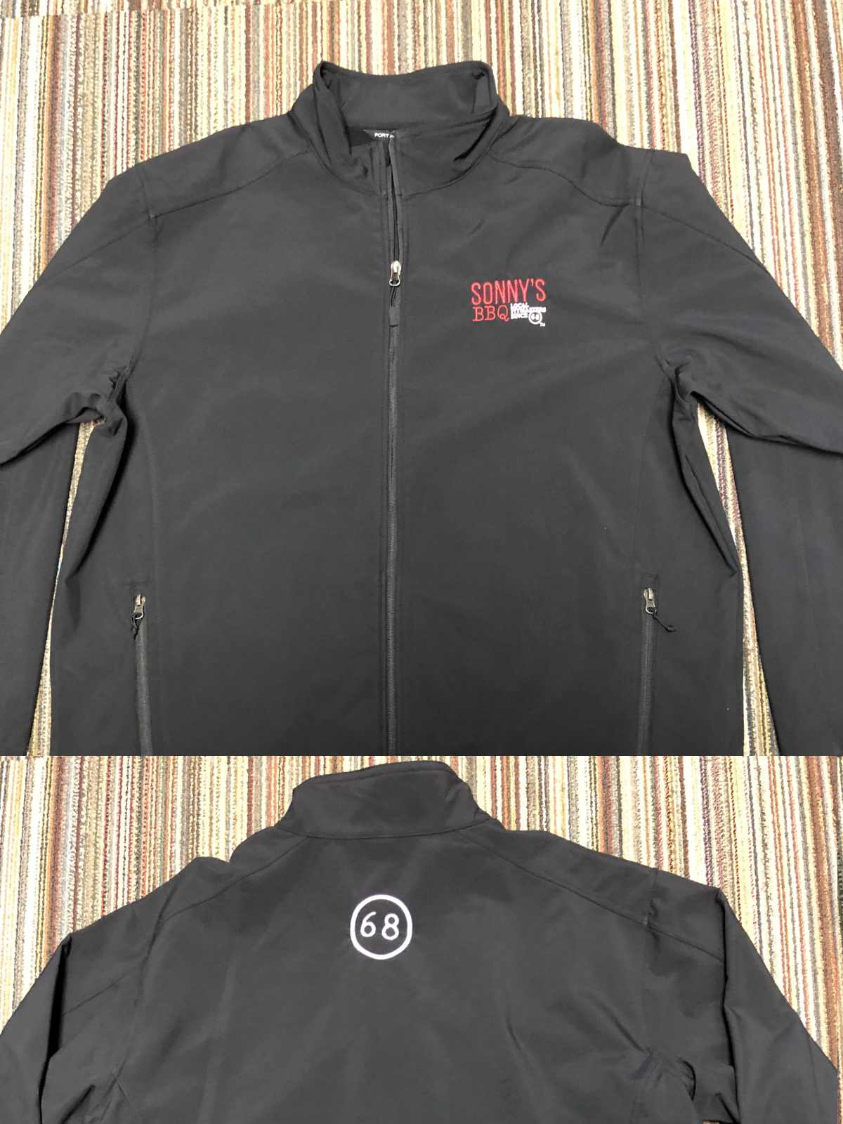 Sonny's – Men's Softshell Jacket: Core Soft Shell Jacket. J317 – Black, Battleship Grey, Deep Smoke, & Rich Red