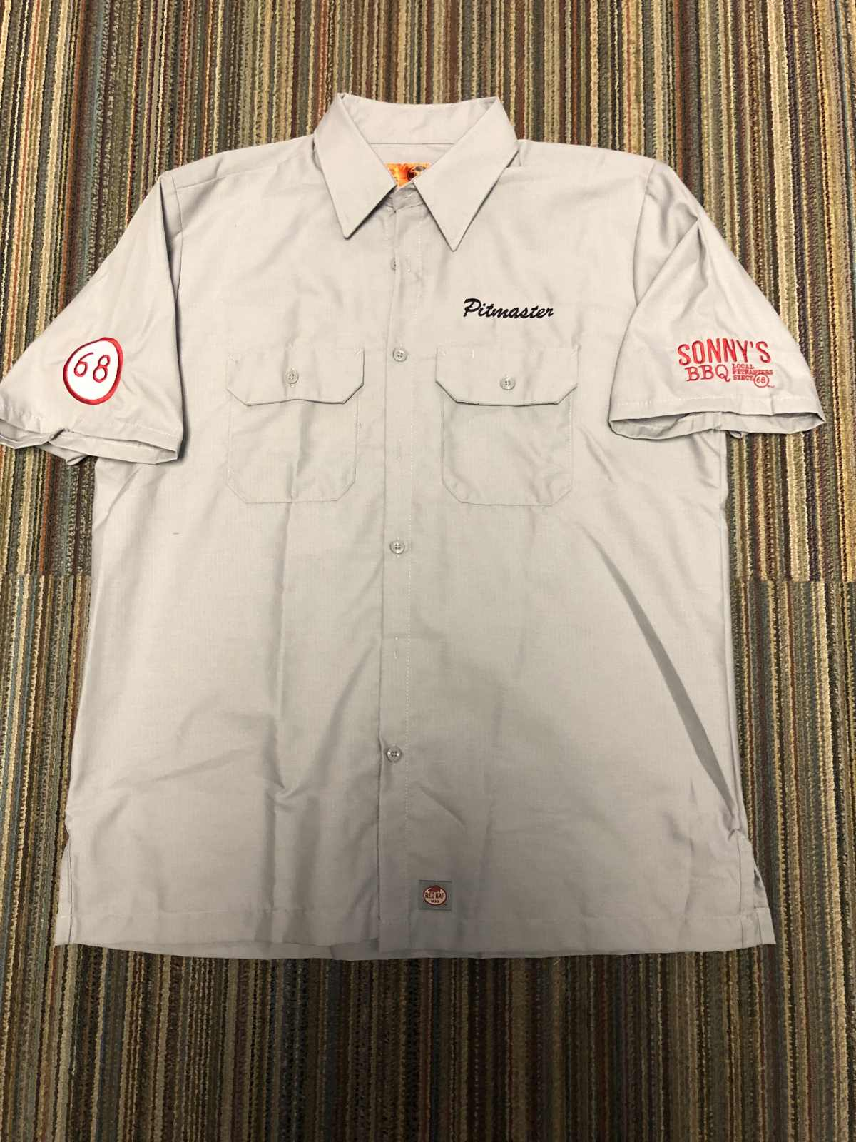 Sonny's – Pitmaster Lightweight Red Kap: Short Sleeve Solid Ripstop Shirt. SY60 – Grey & Black